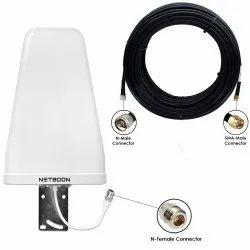 High Gain Outdoor LPDA Antenna 12dBi External Antenna LMR 200 Coaxial Cable 15 Meter