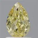 1.02 Pear Fancy Intense Yellow GIA Certified Natural Diamond