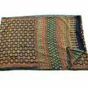 Hand Block Printed Silk Saree, 6.3 M (with Blouse Piece)
