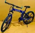 Blue Mercedes Benz Foldable Cycle