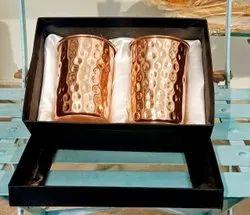 Hammered Copper Glass Set Diwali Gift Corporate Gift Wedding Gift