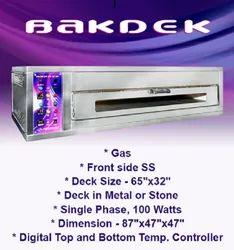 87x47x47 Bakdek 65X32 Single Deck Gas Oven