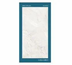 Lasa Grey Ceramic Floor Tile, Glossy, 600x1200mm