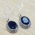 Lapis Lazuli Gemstone 925 Sterling Silver Earrings WE-6275