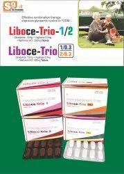 LIBOCE TRIO 1/0.3 Tablet Voglibose 0.3mg + Glimepiride 1mg + Metformin 500mg SR