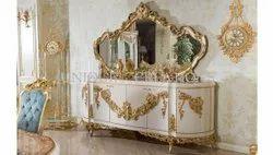 Teak White Gold home decor furniture