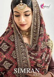 Kesari Trendz Simran Vol 3 Chinon With Embroidery Work Pakistani Suits Catalog