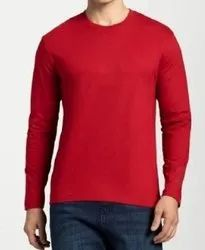 Red T-Shirt Mens Full Sleeve And Half Sleeve