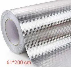 Oil Proof Waterproof Aluminium Foil Stickers Kitchen Backsplash (61x 200 cm)