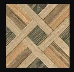 Polished Brown Designer Floor Tile, 300 mm x 300 mm