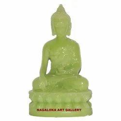Green Religious Handecor Buddha Statue, Size/Dimension: 12.7 Cm X 8 Cm X 5 Cm
