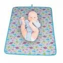 Diaper Changing Mat And Bed Protector Made In 100% Cotton Design Dinosaur
