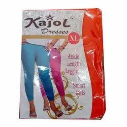 M Kajol Straight Fit Ankle Length Cotton Lycra Leggings, Size: Free Size