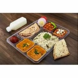 8 Compartment Plastic Meal Tray Without Lid