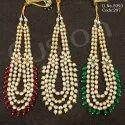 Traditional Ruby Long Kundan Necklace Set