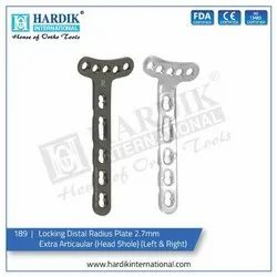 Locking Distal Radius Plate 2.7mm Extra Articaular (Head 5hole) (Left & Right)