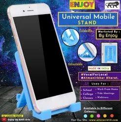 Enjoy Blue Plastic Mobile Stand, Size: Medium