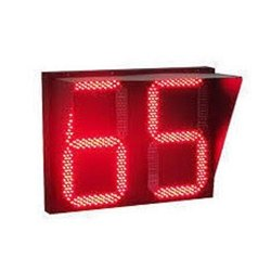 Red Traffic Signal Countdown Timer