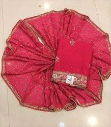Premium Collection Salwar Traditional Red Fully Embroidered Suit