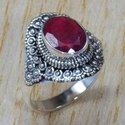 Ruby Gemstone 925 Sterling Solid Silver Ring Jewelry SJWR-750