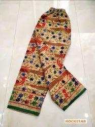 Rockstar Cotton Beautiful Handmade Embroidered Pants, Size: 38 Size Upto 46 Waist