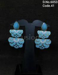 Indian Wedding Meenakari Earrings