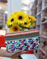 Multi Color Beaded Clutch For Women