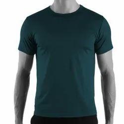 Round Half Sleeve Plain T Shirt 100% Combed Cotton Single Jersey