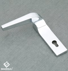 Chrome Plated Plate Type Lever Handle With Lock Accessories-06