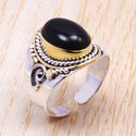 Tiger Eye Gemstone Jewelry 925 Solid Silver Ring SJWR-111