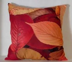 Colorful Leaf Printed Cushion Cover
