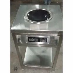 Silver Stainless Steel SS Induction Chinese Wok, For Hotel,Restaurant, Capacity: 10 Litre