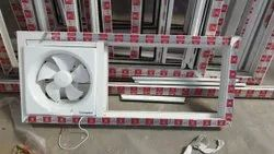 White Residential UPVC Fixed Ventilator Window, Glass Thickness: 5mm