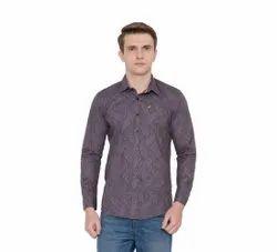 XS-XL Printed Men Casual Wear Cotton Shirt