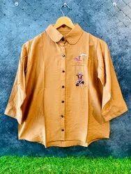 Casual Wear Ladies Chiffon Printed Shirts