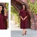 Linige Silk With Fancy Hand Work Kurti -6 Pcs Set