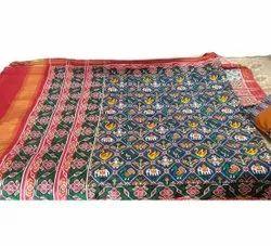 Designer Single Ikkat Patola Silk Saree, Dry Clean, 5.5 M (separate Blouse Piece)