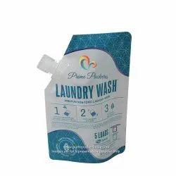 Plastic Laundry Wash Spout Pouch