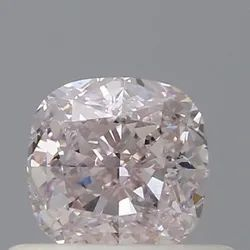Cushion 0.50ct Very Light Pink SI1 GIA Certified Natural Diamond