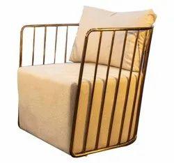RN Enterprises Polished Designer Metal Chair