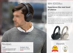 Sony WH-1000XM3 Wireless Noise Cancelling, Bluetooth Headset with Mic 30 Hours Battery Life
