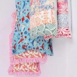 Hand Block Printed Cotton Baby Pillow Cover