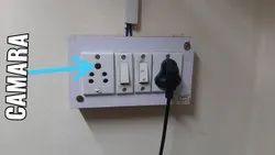 Black 1080p Spy Socket Camera, For Security