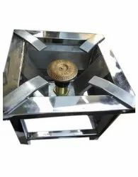 SKP Polished Stainless Steel Commercial Gas Burner, For Hotel, Material Grade: SS202