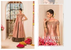 Brocade Party Wear Designer Indo Western Dress, Medium