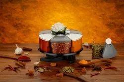 6 jar single layer spice rack