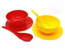 Plastic Round Soup Bowl Set
