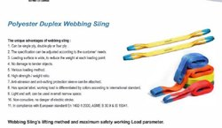 Polyester Duplex Webbing Sling