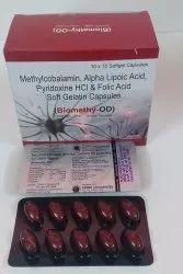 Methylcobalamin Alpha Lipoic Acid Pyridoxine And Folic Acid Softgel Capsules