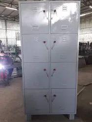 Pad Loc Mild Steel 8 Compartment MS Staff Storage Locker, For Office